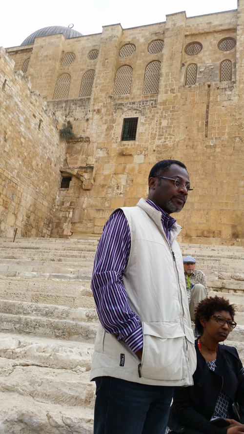Dr. Kingsley Fletcher at the Temple Mount
